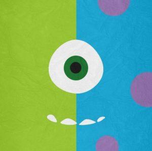 كرة خضراء صغيرة بعين واحدة