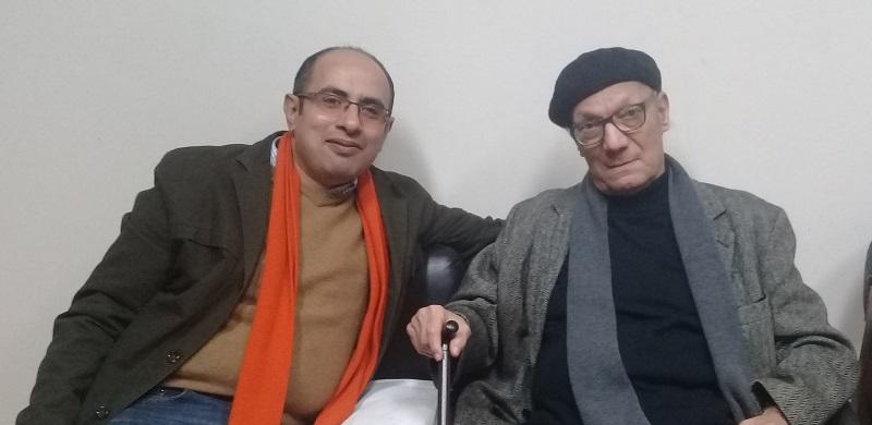 د. رضا عطية وأحمد عبد المعطي حجازي